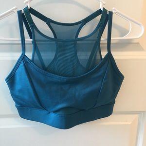 blue mesh sports bra!